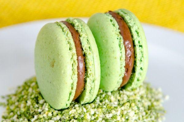 Macarons aus Pistazien. Anleitung und Rezept.
