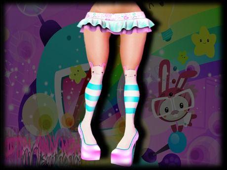 {C.C.M.} So Kawaii! - Bunny Socks, Mesh Skirt n Shoes (Phat Azz Applier)