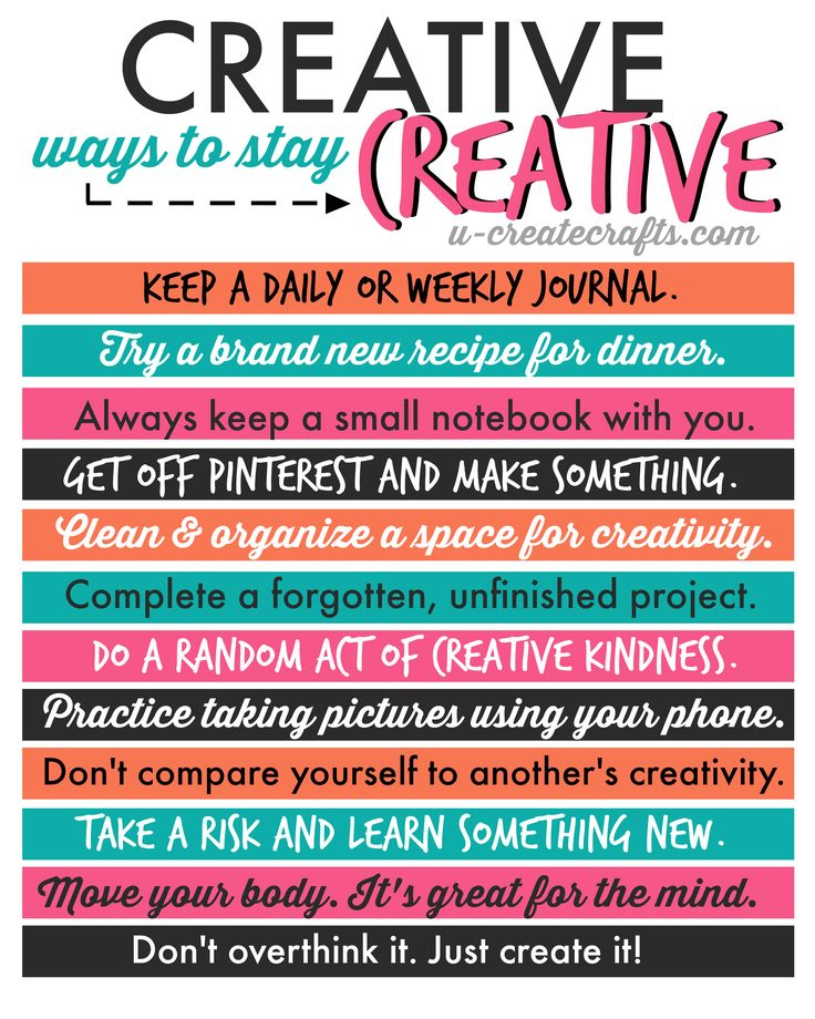 Creative Ways to Stay Creative - find helpful tips that will get you out of a creative funk and inspire you!