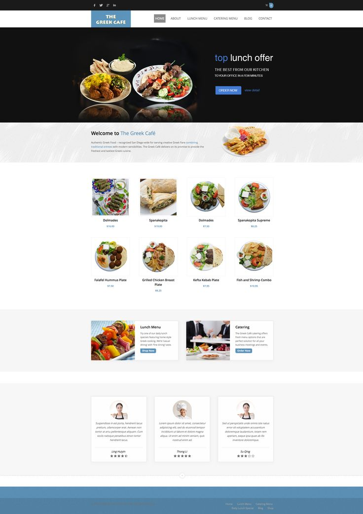 Would you like order authentic Greek Food to your office? Visit website http://safaribamboo.com - used #wordpress #theme #SUSHI