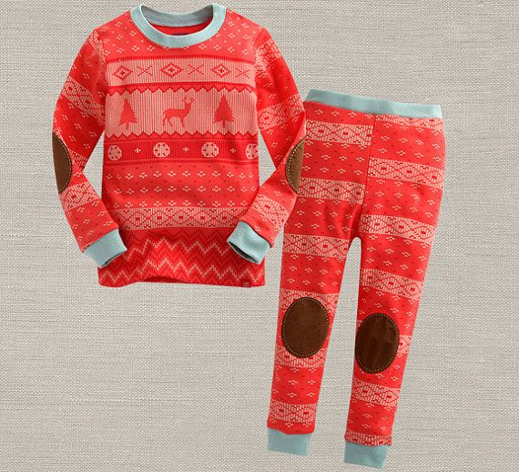 Christmas Pajamas and underwear for kids by hellodearkids on Etsy