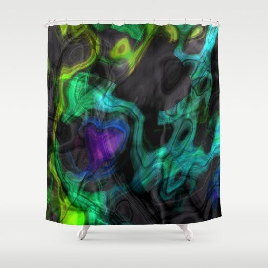 Charm, contrast, Dawn Beck, watercolor, digital, mixed, media, bold, vibrant, colorful, multicolored, hued, neon, abstract, artistic, original, black,, fun, cool, creative, streaked, daring, explosion, flowing, wispy, glow, layered, wisps, gray, pink, lime, aqua, turquoise, yellow, green, blue, purple, white, bathroom, accessory, shower, curtain, home, decorative