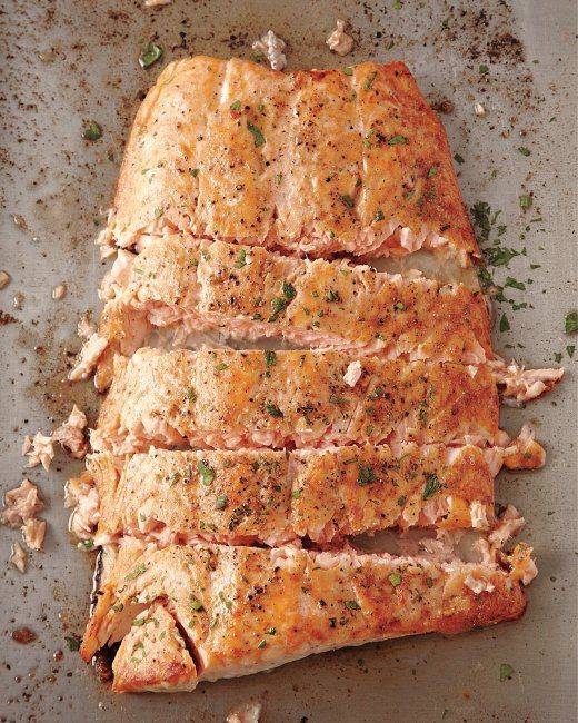 """Roasted Salmon with Butter from Mark BIttman.  One of our easiest, most delicious """"weeknight"""" eats!"""