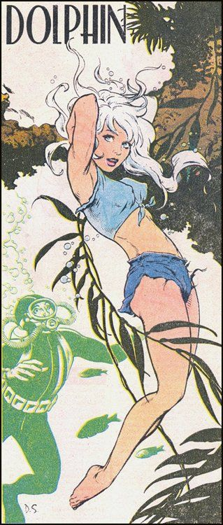 Dolphin from Who's Who in the DC Universe by Dave Stevens,1985