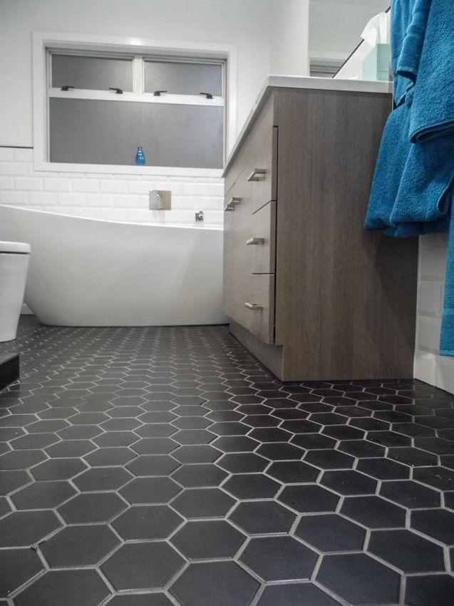 Tiled Hexagon Floor Tile Hexagon Tile Bathroom Tile Bathroom Floors