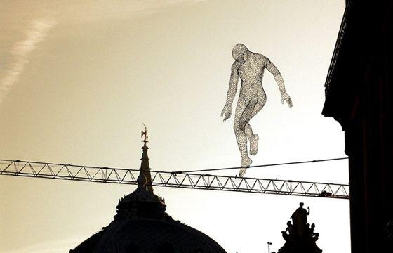 glowing sculpture