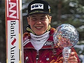 Goldberger, Andreas (Andi)  * 29. 11. 1972, Waldzell (Oberösterreich)  Skispringer   Gesamtsieger von Vierschanzentournee und Weltcup 1992/93; errang 2 Silber- und 2 Bronzemedaillen bei den Weltmeisterschaften 1992 und 1993 sowie 2 Bronzemedaillen bei den Olympischen Spielen 1994 (Großschanze, Mannschaftsspringen) und den Weltcupsieg 1995; Weltcupsieger und Weltmeister im Skifliegen 1996, Goldmedaille bei den Weltmeisterschaften 2001 in Lahti (Normalschanze, Mannschaftsspringen).