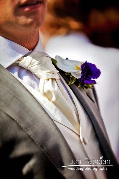 Wedding: groom detail