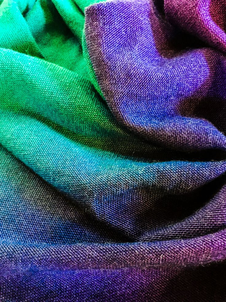 Handwoven and hand dyed Merino Wool/ Kid Mohair wrap
