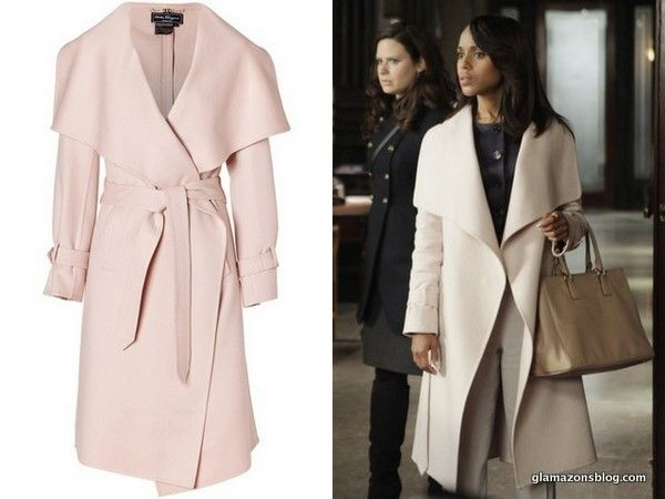 Scandal Fashion Recap: Salvatore Ferragamo Cashmere Coat, Jets Cut Out Swimsuit and Dior Navy Peplum top
