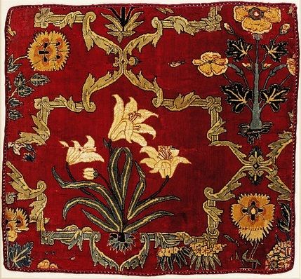 Square fragment of a carpet, India, mid 17th century, V Museum