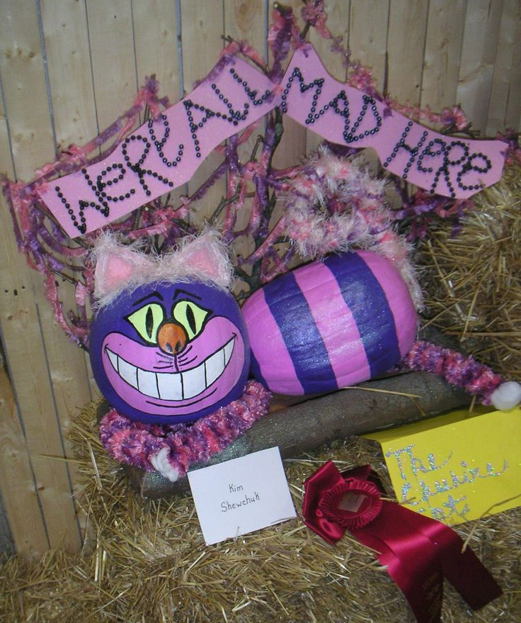 The Cheshire Cat decorated pumpkin at The Big E in 2012.