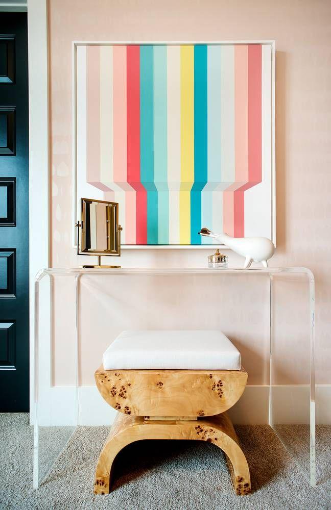 Blush Modern Bedroom Vanity Artowrk