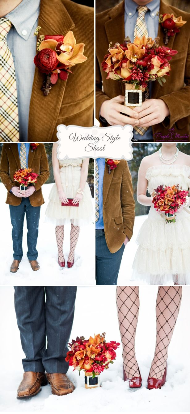 Love the grooms jacket!  Burberry Fall wedding