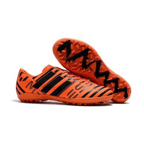 chuteira society barata Adidas Messi Nemeziz 17.1 Society TF Laranja Preta