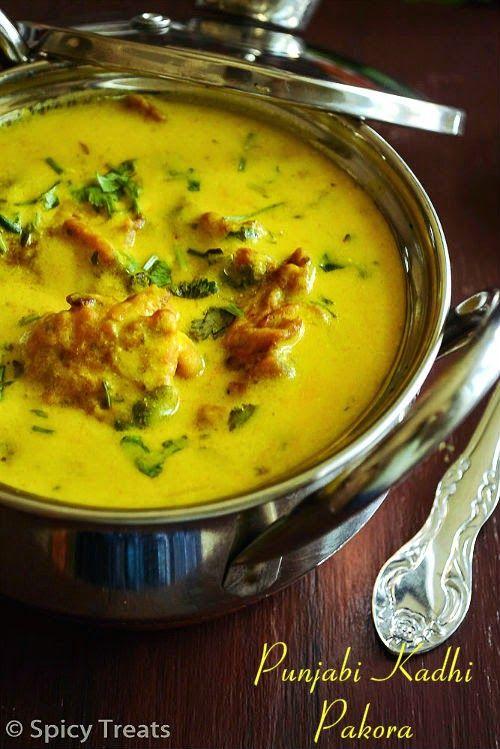 Spicy Treats: Punjabi Kadhi Pakora / Punjabi Kadhi With Pakora ~ Punjabi Recipes!!