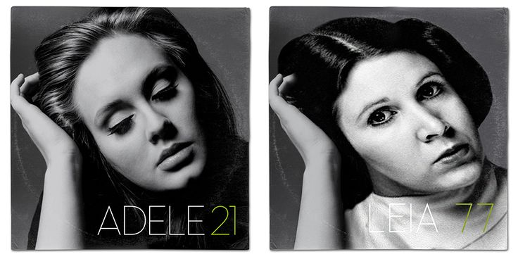 Star Wars (Princess Leia) / Adele 21 Album Cover Mash Up Parody by Whythelongplayface   #adele #21  #starwars #thelastjedi #lastjedi #jedi #tshirt #mashup #photoshop #parody #albumcover #album #cover #lp #record #vinyl #scifi #nerd #music #movie #geek #lukeskywalker #hansolo #princessleia #r2d2 #c3po #darthvader #chewbacca #harrisonford #carriefisher #markhamill #daisyridley #johnboyega #whythelongplayface