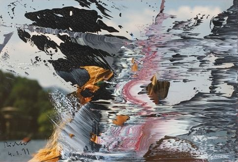 Untitled (4.1.91) Overpainted Photographs by artist Gerhard Richter