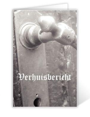 Verhuiskaartje retro deur