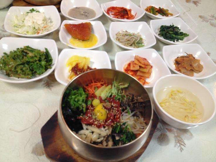 전주에서 먹는 전주 비빔밥