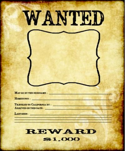 Wanted Poster! Such a fun resource for bulletin board display during a Gold…