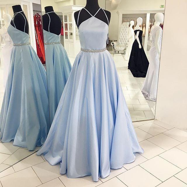 Halter Prom Dress,A Line Prom Dress,Fashion Prom Dress,Sexy Party Dress,Custom Made Evening Dress