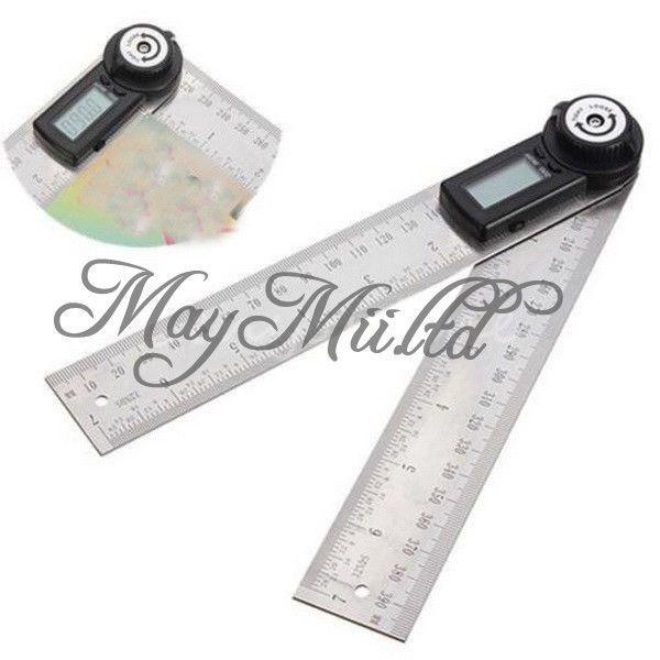 2-in-1 Digital Angle Finder Meter Ruler Measurer 200MM 360°Degree Protractor I