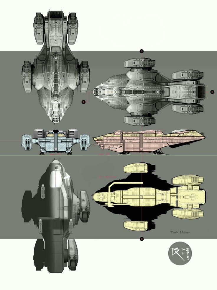 Feast your eyes on some truly glorious spaceship porn. Prepare yourself for Syfy's latest foray into the big black with some exclusive concept art from Dark Matter, the new space series from the minds behind the Stargate franchise. Behold!