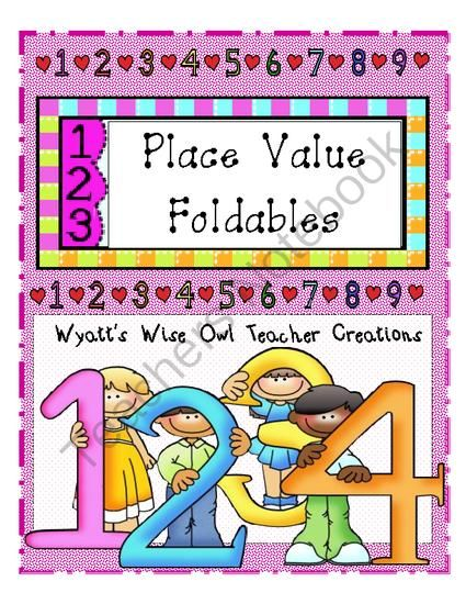 Place Value Foldables from Mrs. Wyatt's Wise Owl Teacher Creations on TeachersNotebook.com -  (54 pages)  - Place Value Foldables