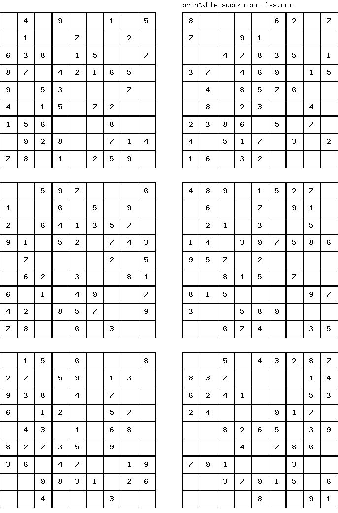 Feel Free To Print This Sudoku Sudoku Puzzles T