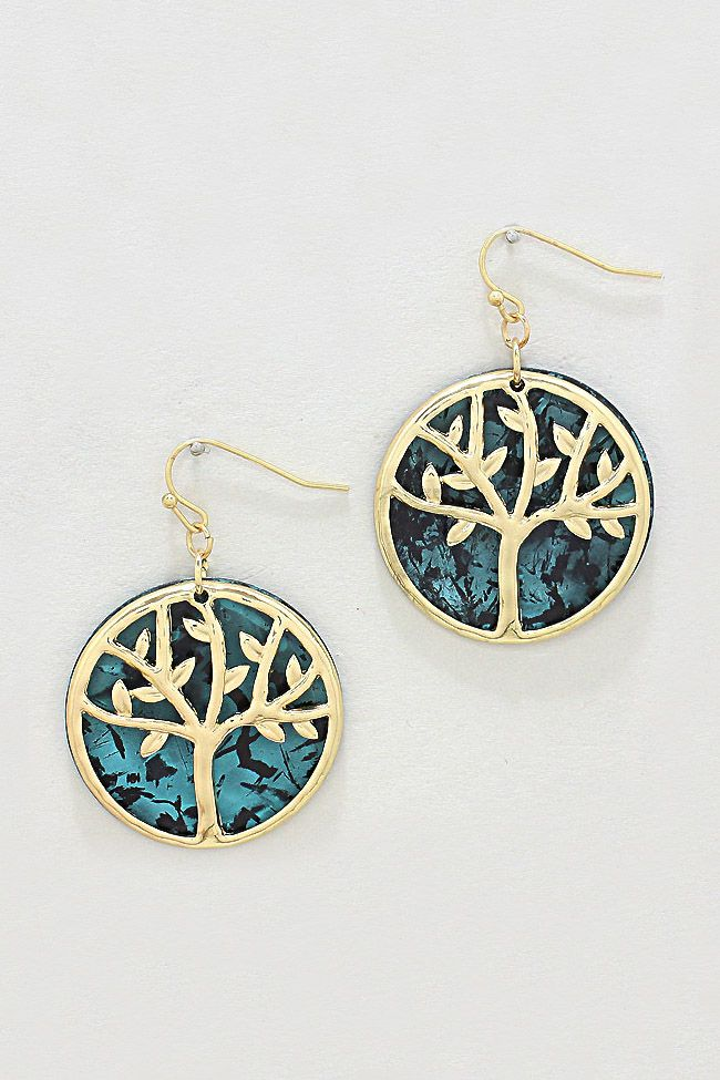 Patina Tree of Life Earrings