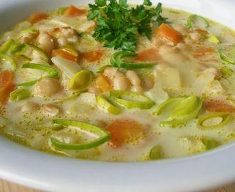 Zelenino - fazolová polévka s chutí křenu