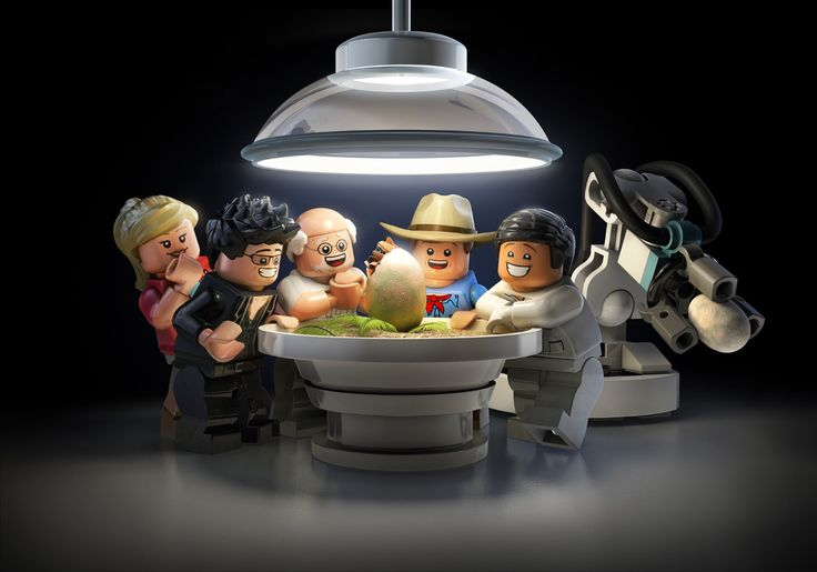 Lego Jurassic World Videogame Key Art and Promo Images on Behance