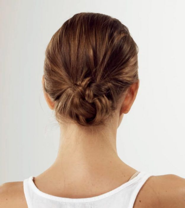 how to do a low bun with short hair