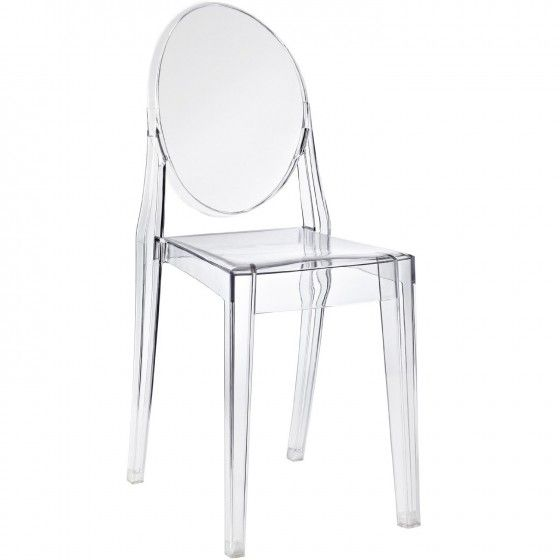 Casper Ghost Chair in Molded Polycarbonate | CASPER-GHOST-CHAIR-POLYCARBONATE | Mobili Modern
