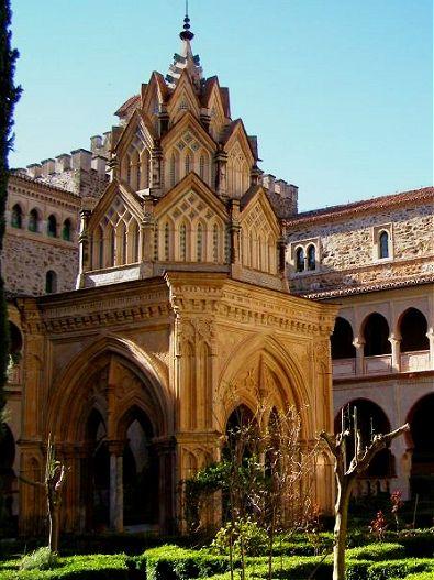 Templete mudéjar del Claustro del Monasterio de Guadalupe. Extremadura. Spain