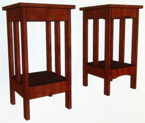 These mission end table plans are for the woodworking beginner