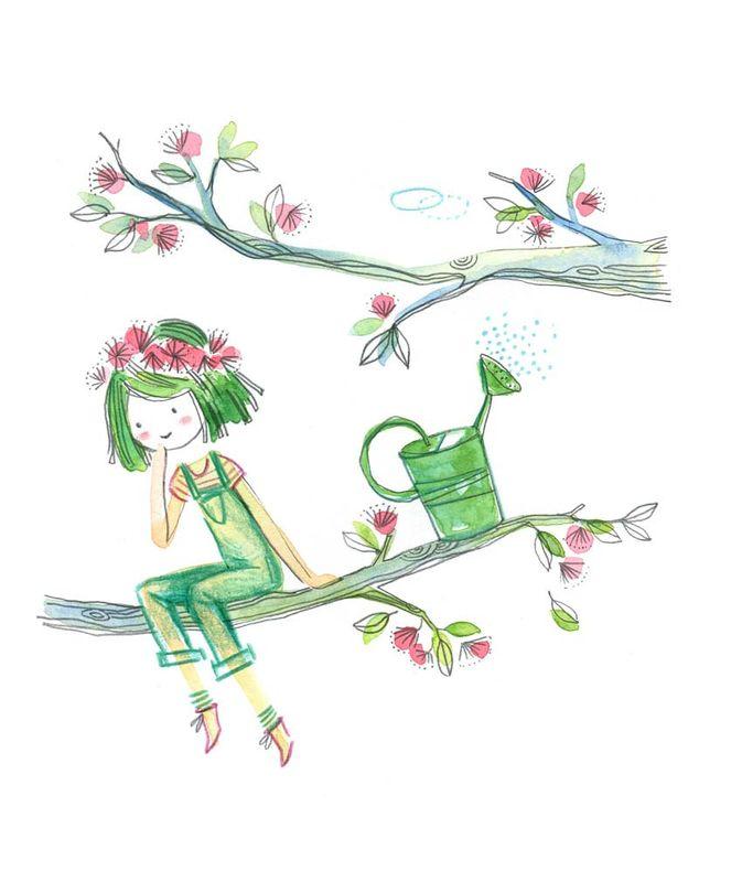 Petite Jardiniere Les Chosettes Illustration Art Fantaisiste