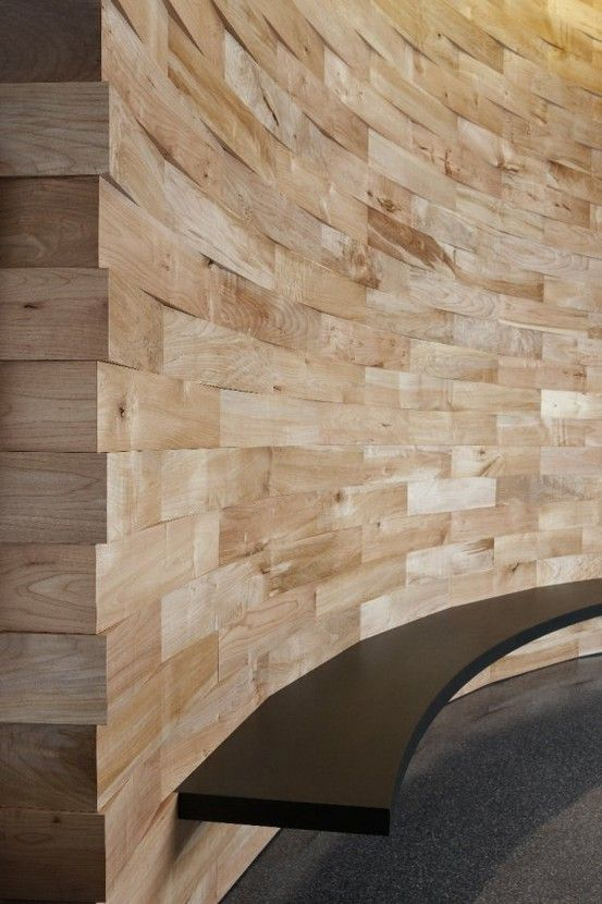 Salvaged wood feature wall