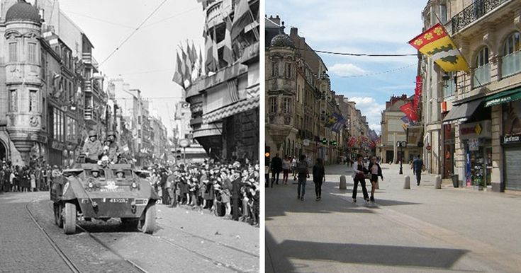 Last Summer, I Found WW2 Photos Of Dijon In France And Retook Them In The Same Places 70 Years Later | Bored Panda