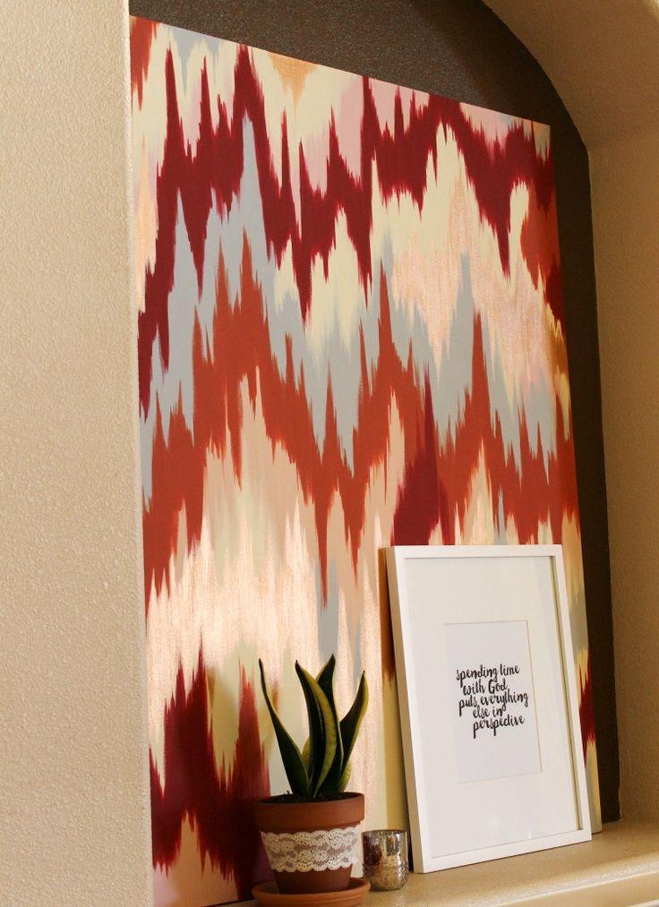 DIY Chevron Ikat Canvas Art
