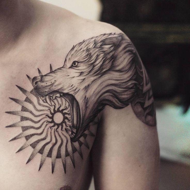 Lovely Lone Wolf Tattoos In Different Styles 2018: 101 Besten Wolf Tattoo Ideas Bilder Auf Pinterest