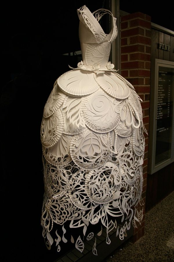 """Paper plate """"gown"""" by Ali Ciatti"""