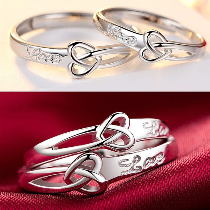 Lovers Rings Top Silver S925 Rings For Lovers Price For A Pair In