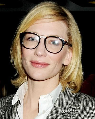 The Perfect Star-Inspired Glasses for You - Cate Blanchett in Wire-Accented Frames from #InStyle