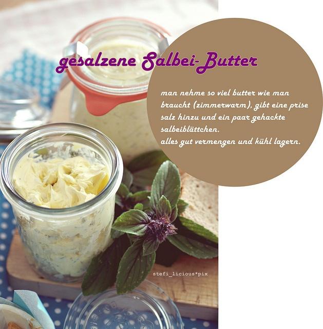 gesalzene Salbei-Butter