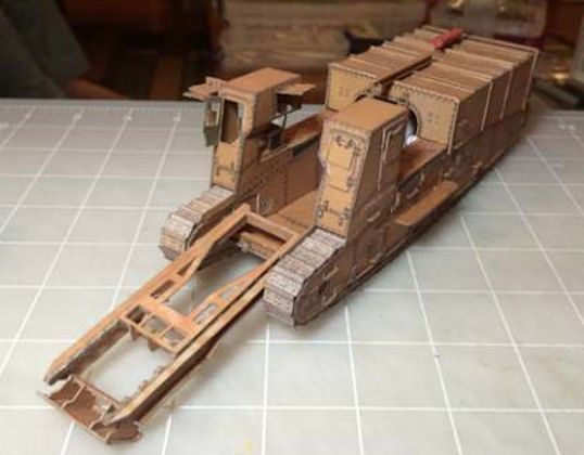 Gun Carrier Mark I Self-Propelled Artillery Free Paper Model Download -