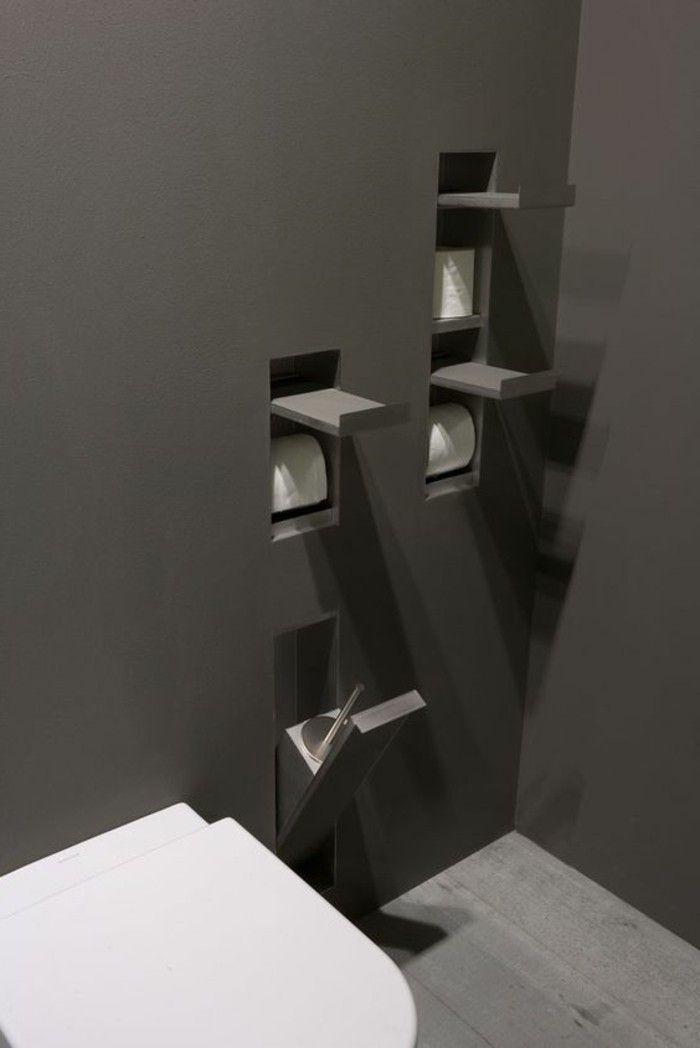 102 best SALLE DE BAINS images on Pinterest Bathroom, Bathrooms - porte serviette salle de bain design