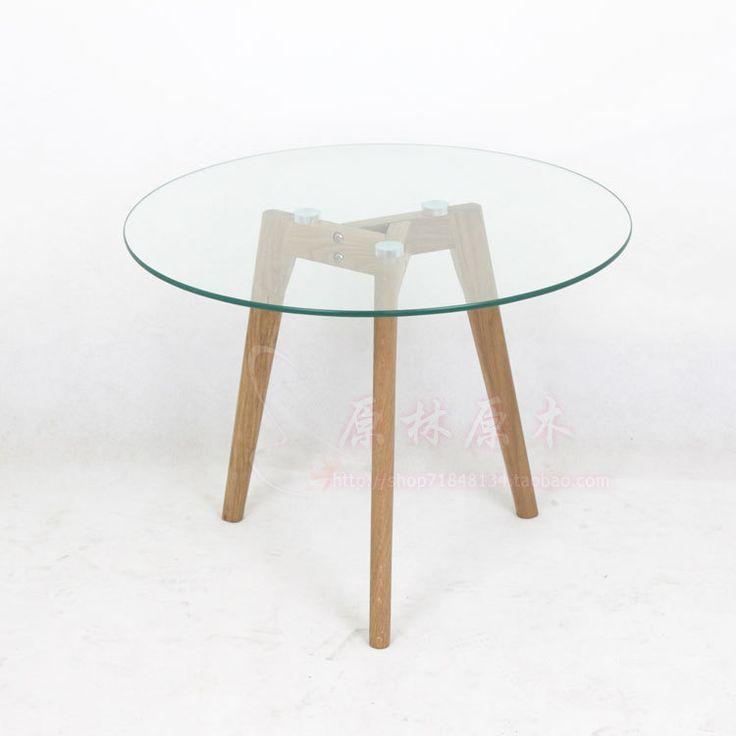 mesa redonda madera y vidrio - Buscar con Google
