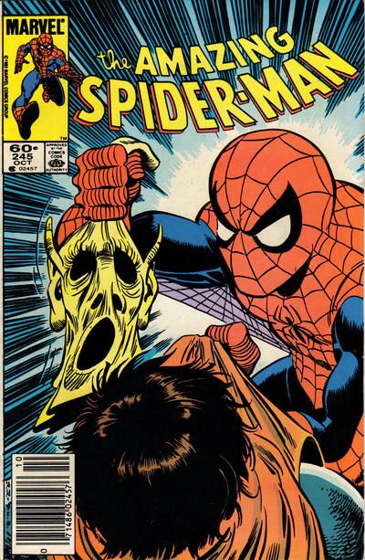 That meddling Spider-Man unmasks the Hobgoblin - it can't be you!